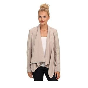 Blank NYC Draped Vegan Leather and Ponte Jacket in